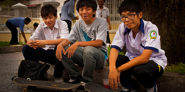 Vietnamese Students; Photo by asiastories