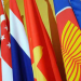 National flags from ASEAN countries