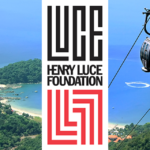 "Scenic photo with overlay of ""Henry Luce Foundation"" logo"