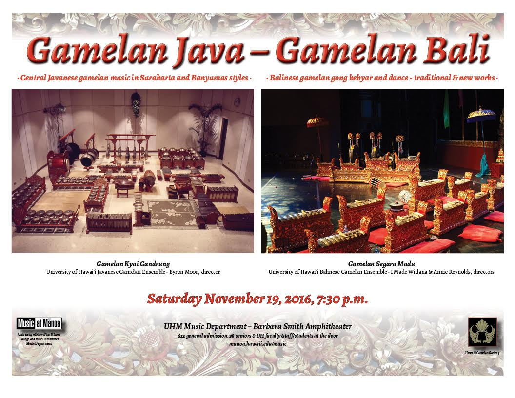 Gamelan Performance Poster