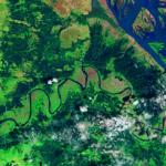 myanmar flood satellite image via nasa