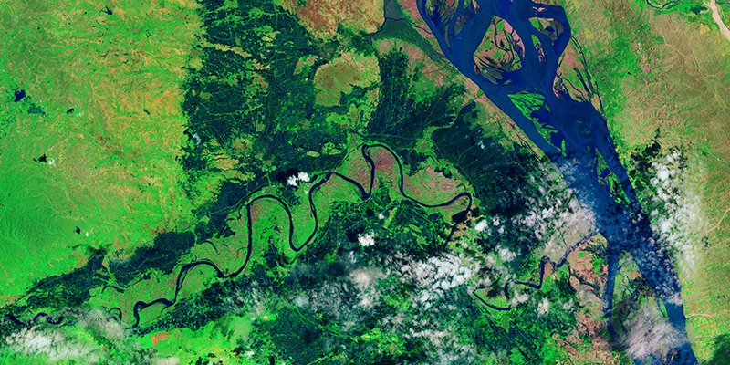 myanmar flood satellite image via nasa