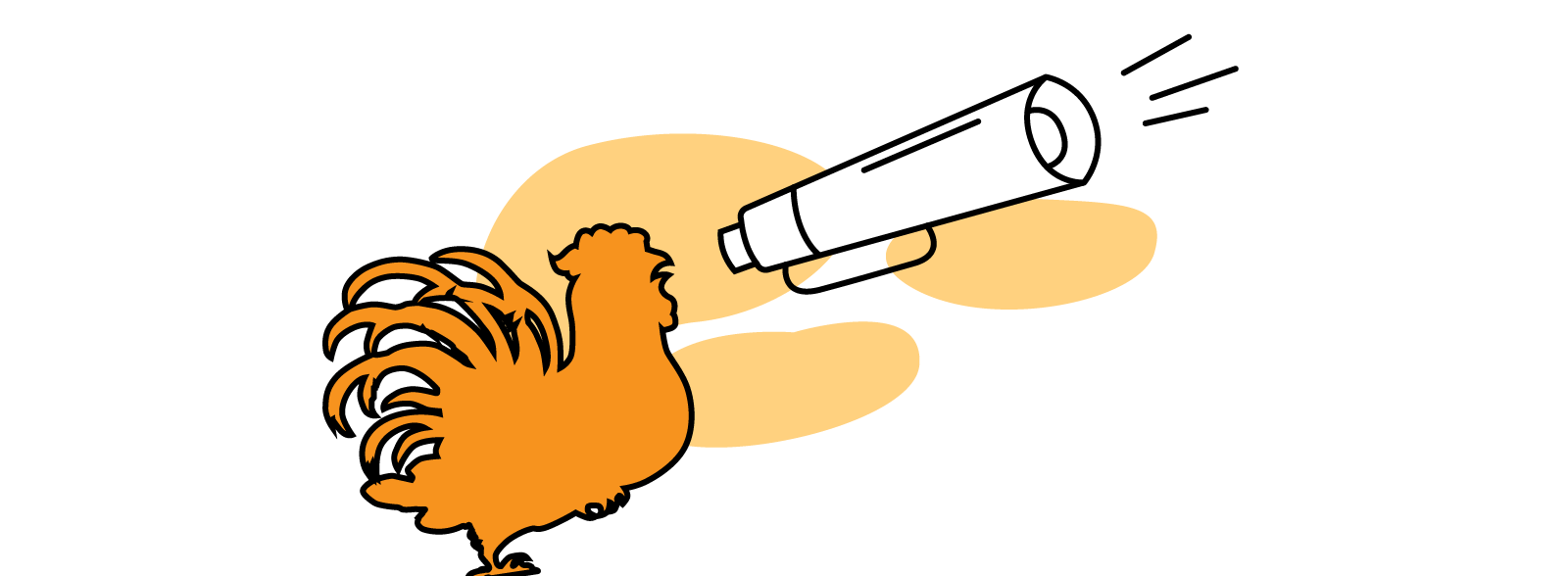 cseas chicken with loudspeaker
