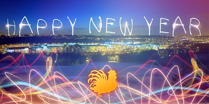 happy new year chicken