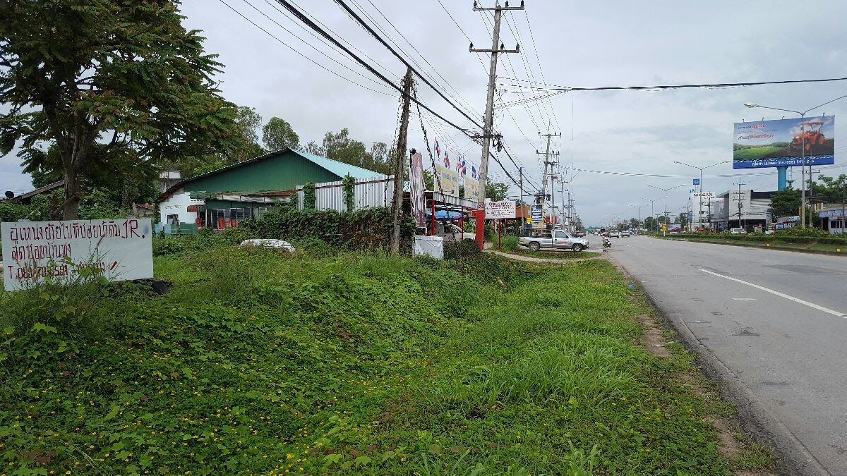 Side of the road along the Asian Highway in Thailand