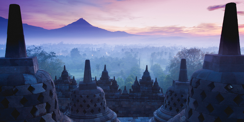 Borobudur at sunrise