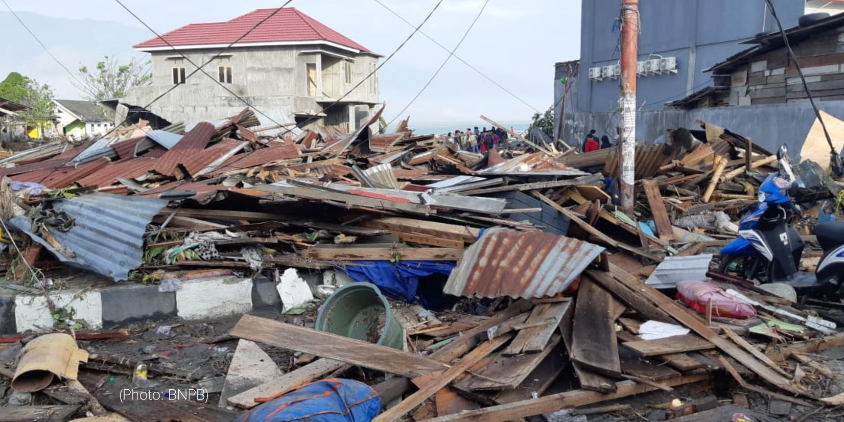 Palu-Donggala tsunami and earthquake damage
