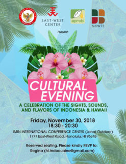 nov 2018 flyer for indonesian cultural evening